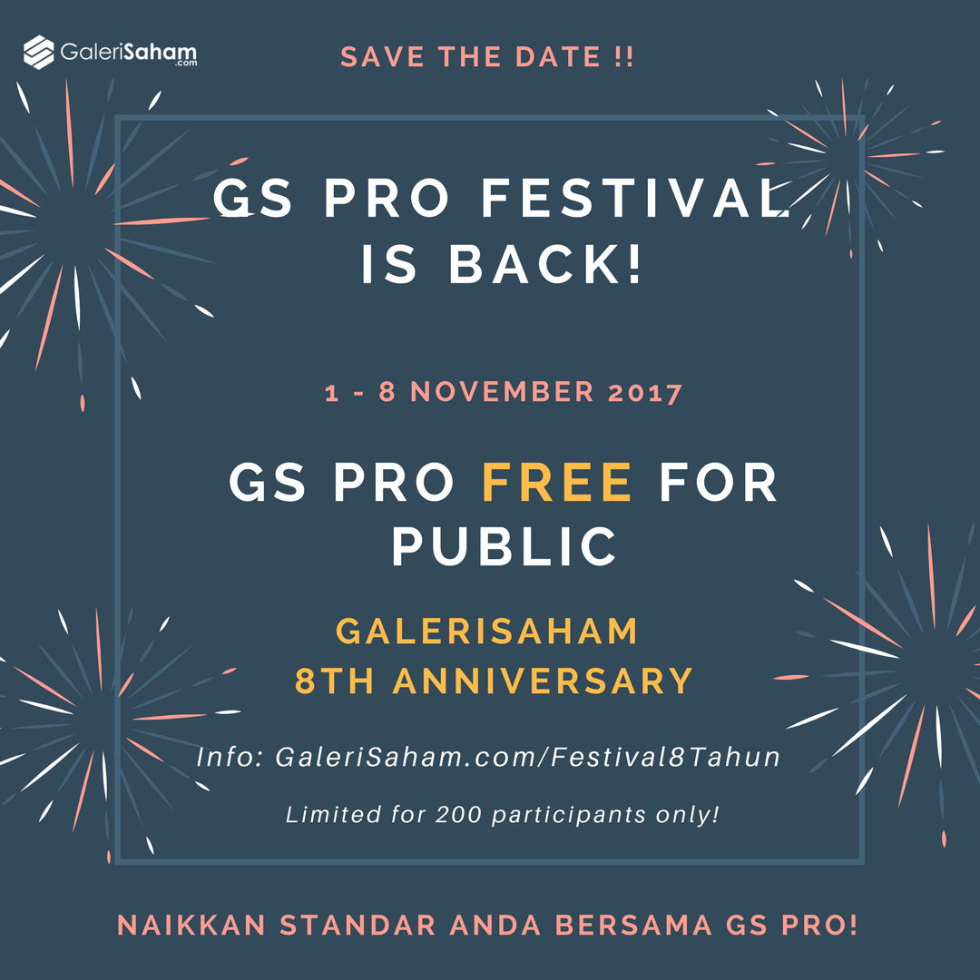LINK Open for Public: GS PRO Festival from 1 – 8 November'17