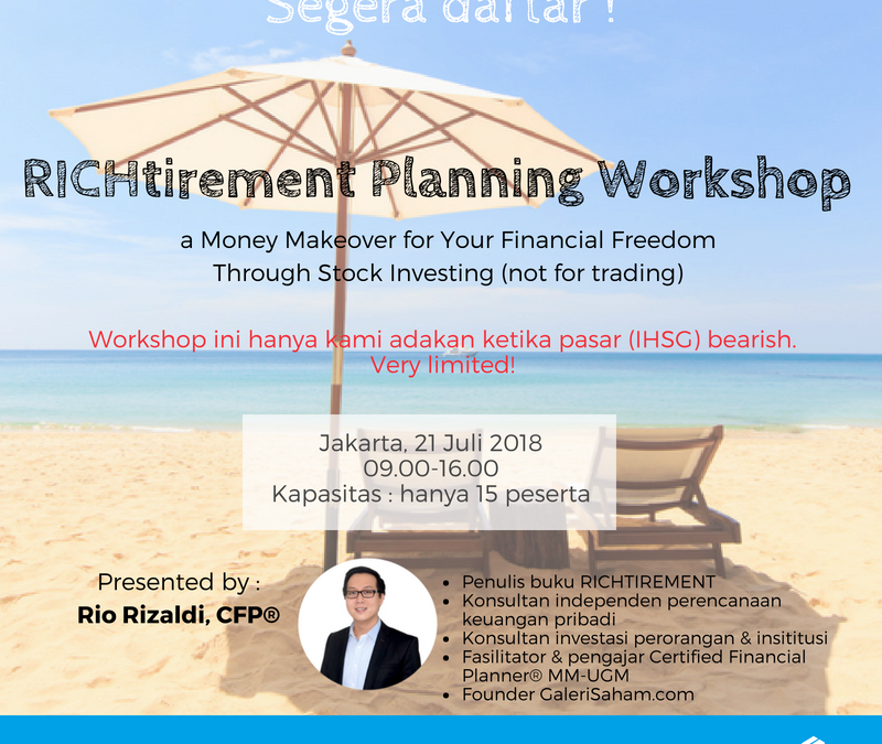 Richtirement Planning Workshop 2018 | Very Special!