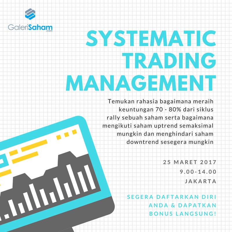 TRAINING: Systematic Trading Management for Mega Profit – 25 Mar'17