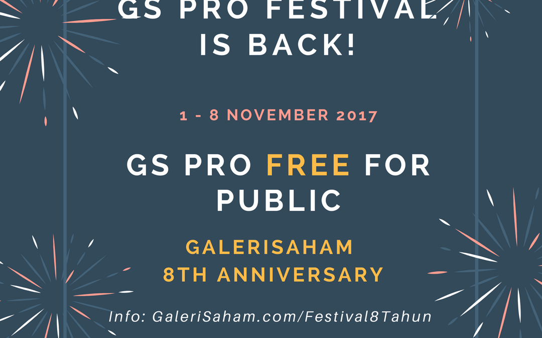 Open for Public: GS PRO Festival from 1 – 8 November'17