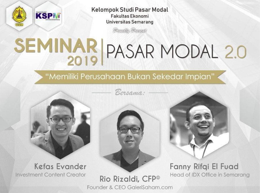 Seminar Pasar Modal 2.0 @Semarang