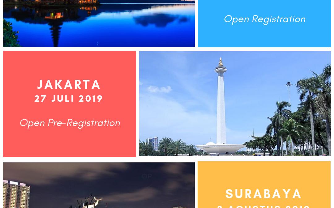 Roadshow: Bali, Jakarta, & Surabaya