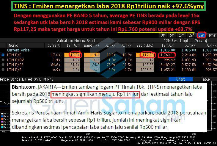 Update Valuasi TINS Berdasarkan Informasi Emiten